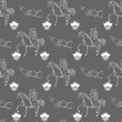 Vector seamless wedding pattern on gray background — Stock Vector #63270081