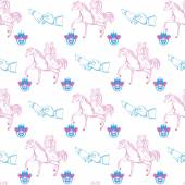 Vector seamless wedding pattern — Vector de stock