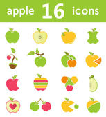 Vector set of logos and symbols of apples — Stock Vector