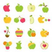 Vector set of logos of apples — Stock Vector