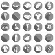 Vector icons and symbols of golf — Stock Vector #65837445