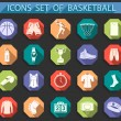 Vector set of icons basketball in flat style — Stock Vector #65837537