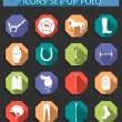 Vector set of icons polo in flat style — Stock Vector #65837627