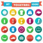 Постер, плакат: Vector set of icons volleyball