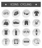 Vector set of icons cycling — Stock Vector