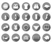 Vector set of icons volleyball — Vetor de Stock