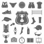 Vector set of icons volleyball — Stockvektor