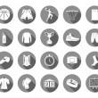 Vector set of icons basketball — Stock Vector #66189591