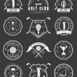 Постер, плакат: Vector Set of Logos and Icons Golf Clubs