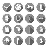 Vector Set of Icons and Sign of Polo — Stock Vector