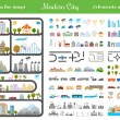 Elements of Modern City - Stock Vector — Stock Vector #70410789