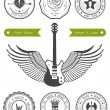 Set Badges of Rock music — Stock Vector #70410911