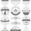 Vector set of badges Photography and Videography — Stock Vector #70411983