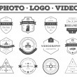 Vector set of badges Photography and Videography — Stock Vector #70412067