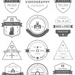 Vector set of badges Photography and Videography — Stock Vector #70412095