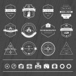 Vector set of badges Photography and Videography — Stock Vector #70420355