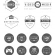 Set Icons and Badges TV and Video — Stock Vector #74997169