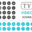 Set Icons and Badges TV and Video — Stock Vector #74997711