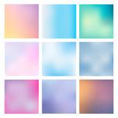 Set Blurred Backgrounds — Stock Vector