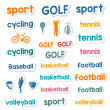 Set of Icons and Stickers Sports Games — Stock Vector #75000451