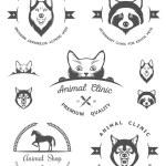 Постер, плакат: Set of Vintage Logos for Vet Clinic