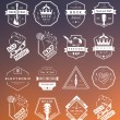 Set of vector logos and badges music — Stock Vector #76349707