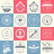 Set of vector logos and badges music — Stock Vector #76350243
