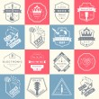 Set of vector logos and badges music — Stock Vector #76350245
