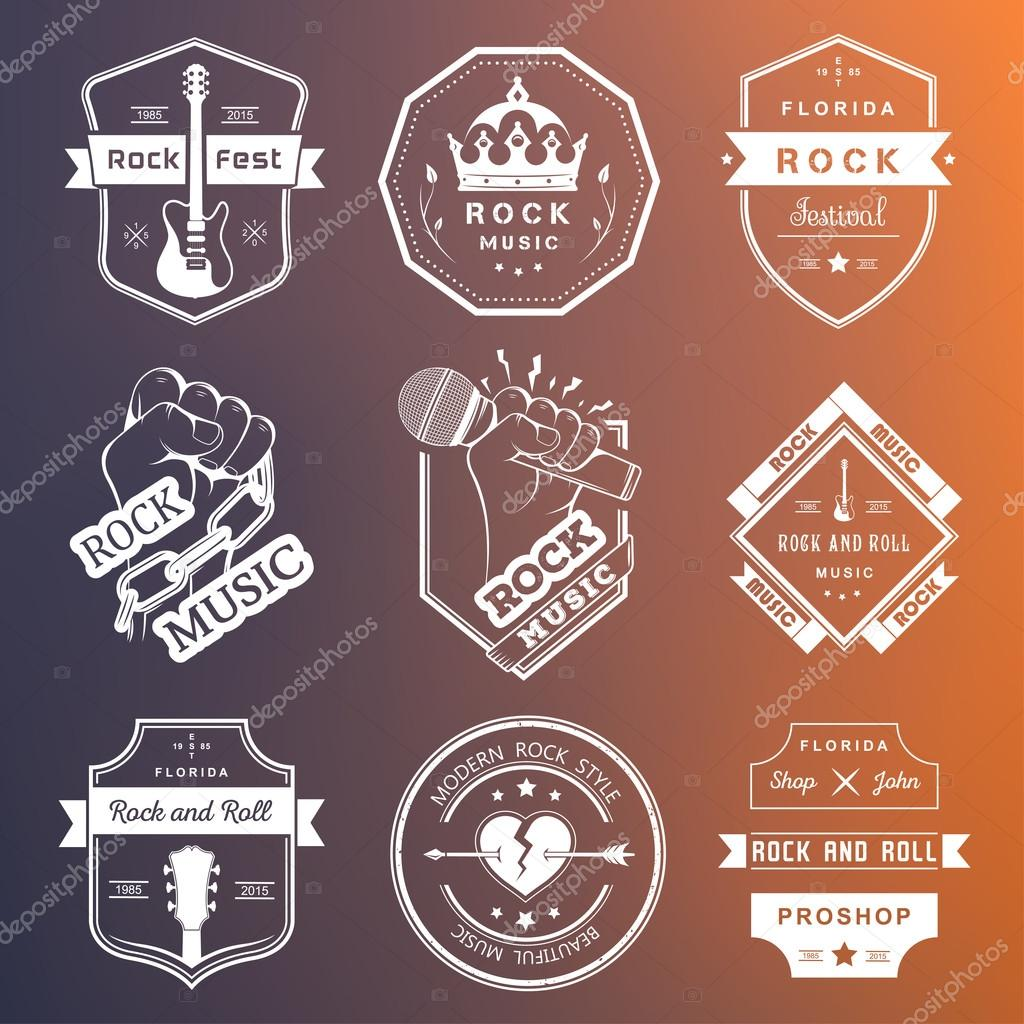 Free download of Rock Band vector logos