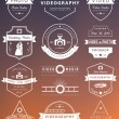 Vector set of badges Photography and Videography — Stock Vector #78919314