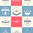 Vector set of badges Photography and Videography — Stock Vector #78919338