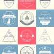 Vector set of badges Photography and Videography — Stock Vector #78919350