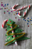 Candy Cane Christmas Tree — Stock Photo