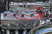 Customized high-performance V8 engine — Stock Photo