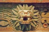 Ancient prehispanic sculpture in Mexico — Stock Photo