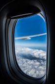 Airplane window  — Stock Photo