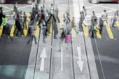 Pessoas da multidão — Fotografia Stock