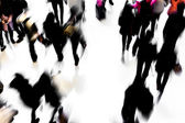 Motion blurred crowded people shopping in mall — Foto de Stock