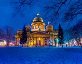 Gold tale. St. Isaac's Cathedral Saint-Petersburg, Russia. 24.01.2015 — Stock Photo