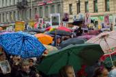 Procession of the immortal Regiment in St. Petersburg. Russia-Ma — Stock Photo