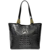 Reptile Embossed Leather Bag. — Stock Photo