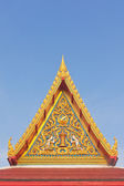 Thai Buddhist temple gable with apex — Stock Photo