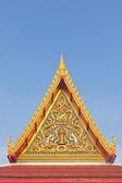 Thai Buddhist temple gable with apex — Stok fotoğraf