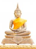 Old brass Buddha statue — Foto Stock
