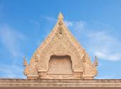 Thai Buddhist temple ancient style stucco gable — Stock Photo