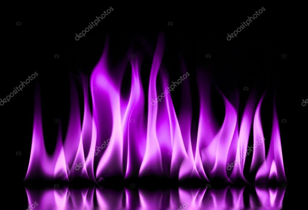 Purple Fire Flames On A Black Stock Photo 169 Baranov