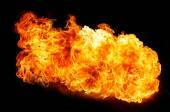 Chamas de fogo em preto — Fotografia Stock