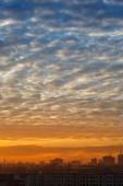 Hemel over stad — Stockfoto