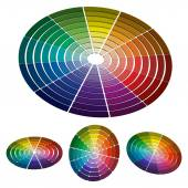 Color wheel with shade of colors. Vector icon, Color circle — Vector de stock