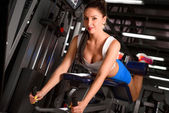 Attractive sporty woman  training in the gym — Stock Photo